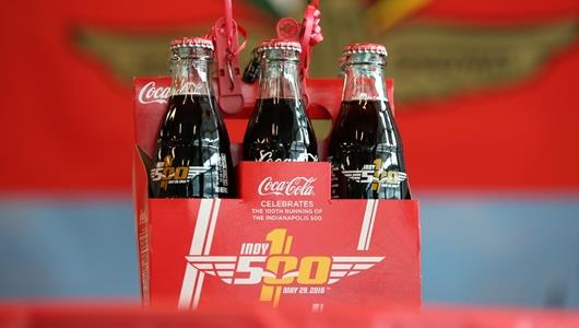 100th Running of the Indy 500 Coca-Cola Bottles