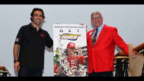 Franchitti Unveils 2013 Indianapolis 500 Ticket