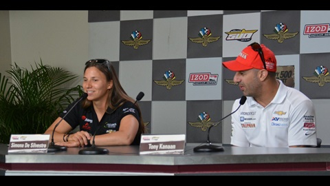 Tony Kanaan, Simona De Silvestro Press Conference