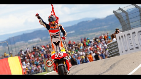 Marquez Beats Lorenzo As Pedrosa Crashes In Dramatic Aragon Race