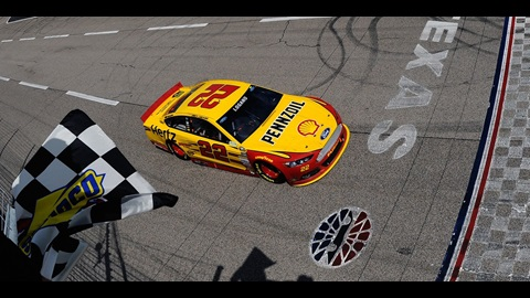 Logano Passes Gordon On Final Lap For Texas Win