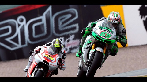 Hayden Completes Tricky Race in Germany