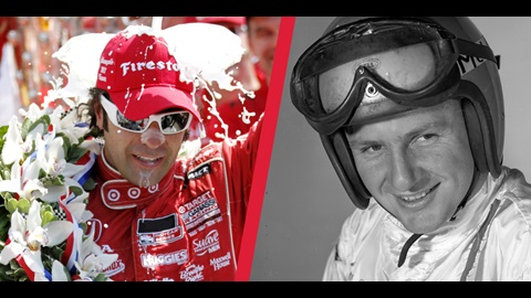 Dario Franchitti and Bruce Mclaren