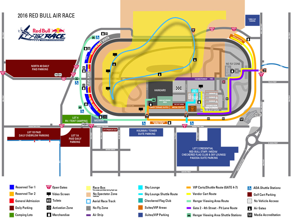 Red Bull Air Race Indianapolis Parking & Tailgating