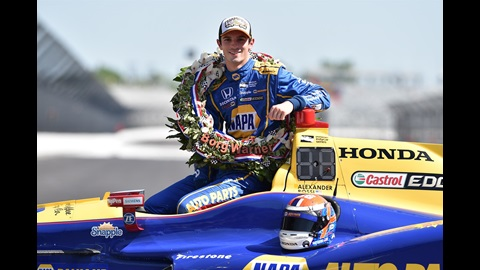100th Running of the Indy 500 Champion Alexander Rossi during his post Race Day photo shoot