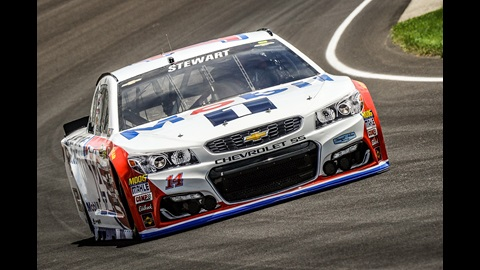 Tony Stewart during practice for the Crown Royal 400 at the Brickyard