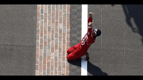 Dario Franchitti after his 3rd Indy 500 victory